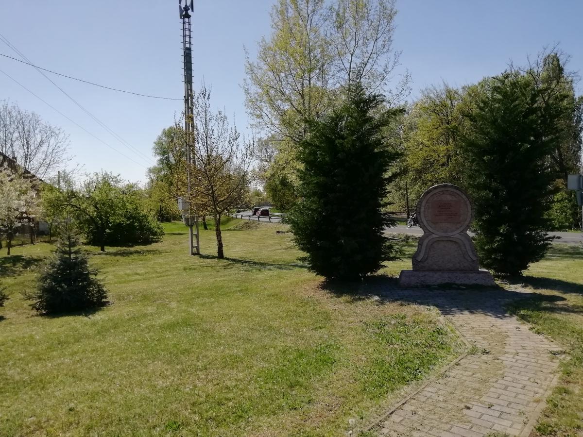 Által-ér völgyi kerékpárút - Almási csata emlékmű