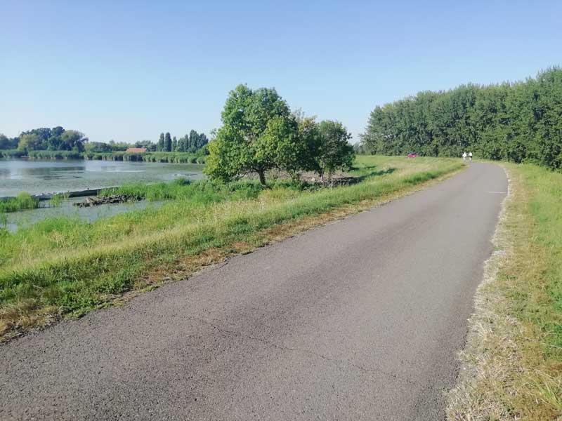 Tisza-tó kerékpárút Abádszalóknál